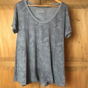 We the free oversized lace print T-shirt